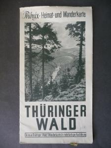 Phönix Heimat- u. Wanderkarte Thüringer Wald ca. 1950