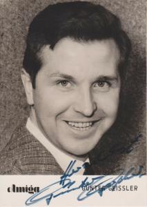 Autogrammkarte Günter Geißler / Schlagersänger DDR Foto 1964 handsigniert