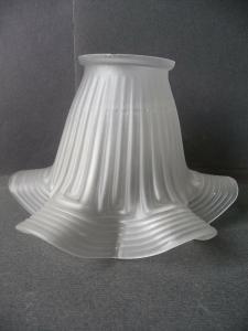 Lampenschirm Milchglas Tulpe Wellenrand