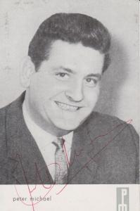 Autogrammkarte Peter Michael / Schlagersänger DDR ca. 1965