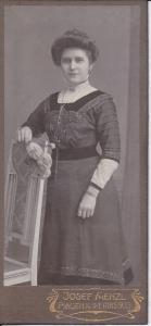 Orig. Foto Kabinettkarte Porträt Dame Frau im schwarzen Kleid Plauen Mode 1910