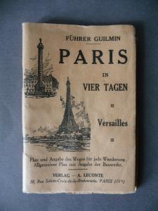 Führer Paris in vier Tagen mit Stadtplan ca. 1940