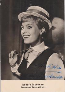 Autogrammkarte Renate Tschenett / Schauspielerin Tänzerin DDR Foto signiert
