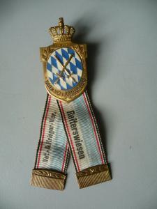 Abzeichen Mitgliederabzeichen Kriegerbund Bayern Reiterswiesen