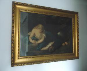 Großer Wandbilddruck Büßende Magdalena nach Batoni Stuckrahmen