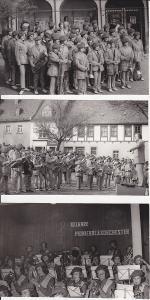 3 Fotos Hartenstein Erzgebirge Pionier-Blasorchester ca. 1970