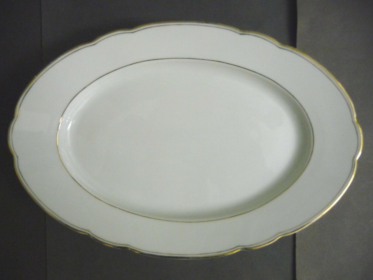 Servierplatte Fleischplatte Platte Goldrand Tirschenreuth Bavaria Porzellan Nr 323782783577 Oldthing Diverses Porzellan