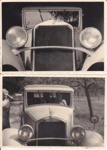 2 Orig. Fotos Mercedes Oldtimer Plauen Vogtl. ca. 1940