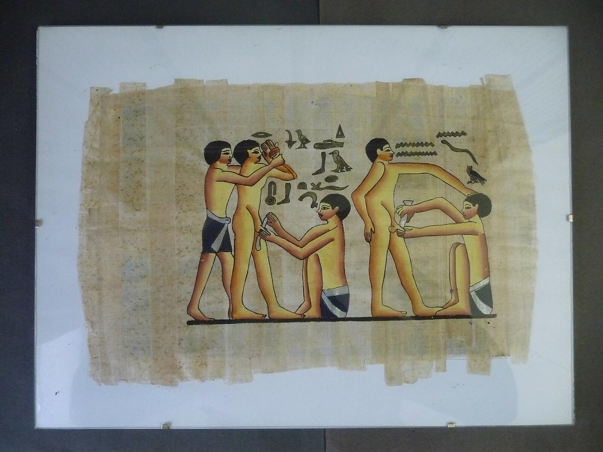 Papyrus Alt-Ägypten Darstellung Beschneidung 0