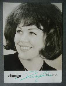 Autogrammkarte Rica Dèus / Sängerin Foto DDR handsigniert