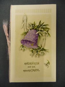Glückwunschkarte Klappkarte Taufe Widmung Burkersdorf b. Kirchberg 1919