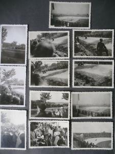 12 x Orig. Fotos Motorrad-Rennen Hohenstein Sachsenring ? 1949