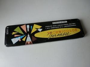 Blechdose Bleistiftschachtel Bohemia Technicolor / Koh-I-Noor Hardtmuth ca. 1960