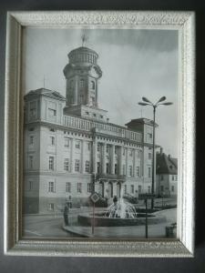 Orig. Foto Zeulenroda Thüringen Rathaus gerahmt ca. 1960