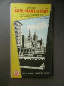 Alter Stadtplan Karl-Marx-Stadt Chemnitz 1969