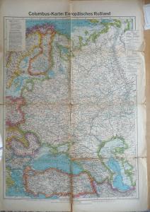 Landkarte Europäisches Russland ca. 1943