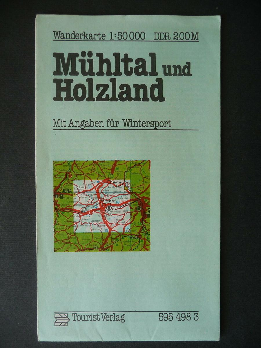 Landkarte Wanderkarte Mühltal Holzland Eisenberg Hermsdorf Thüringen 1981 0