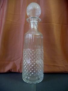 Große Glaskaraffe Flasche mit Stopfen