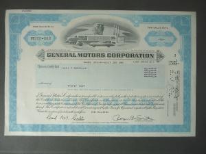 Aktie Share General Motors Corp. 1982