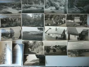 17 Orig. Fotos Vogtland Ansichten Triebtal Landschaft Altensalz  ca. 1956