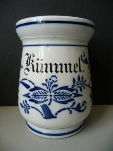 Gewürzdose Vorratsdose Kümmel Zwiebelmuster Keramik
