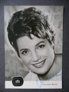 Autogrammkarte Christel Kern / Fernsehsprecherin DDR handsigniert 1962