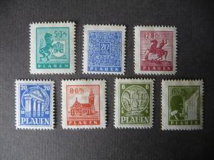 7 x Briefmarken Plauen Vogtland Wiederaufbau 1945