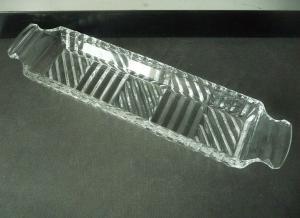 Lange schmale Schale Ablage Kammschale Kristallglas