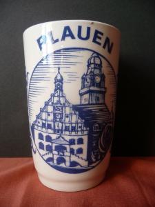 Keramikbecher Andenkenbecher Souvenir Plauen Vogtland