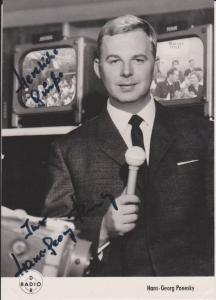 Autogrammkarte Hans-Georg Ponesky / Show-Master DDR Foto signiert