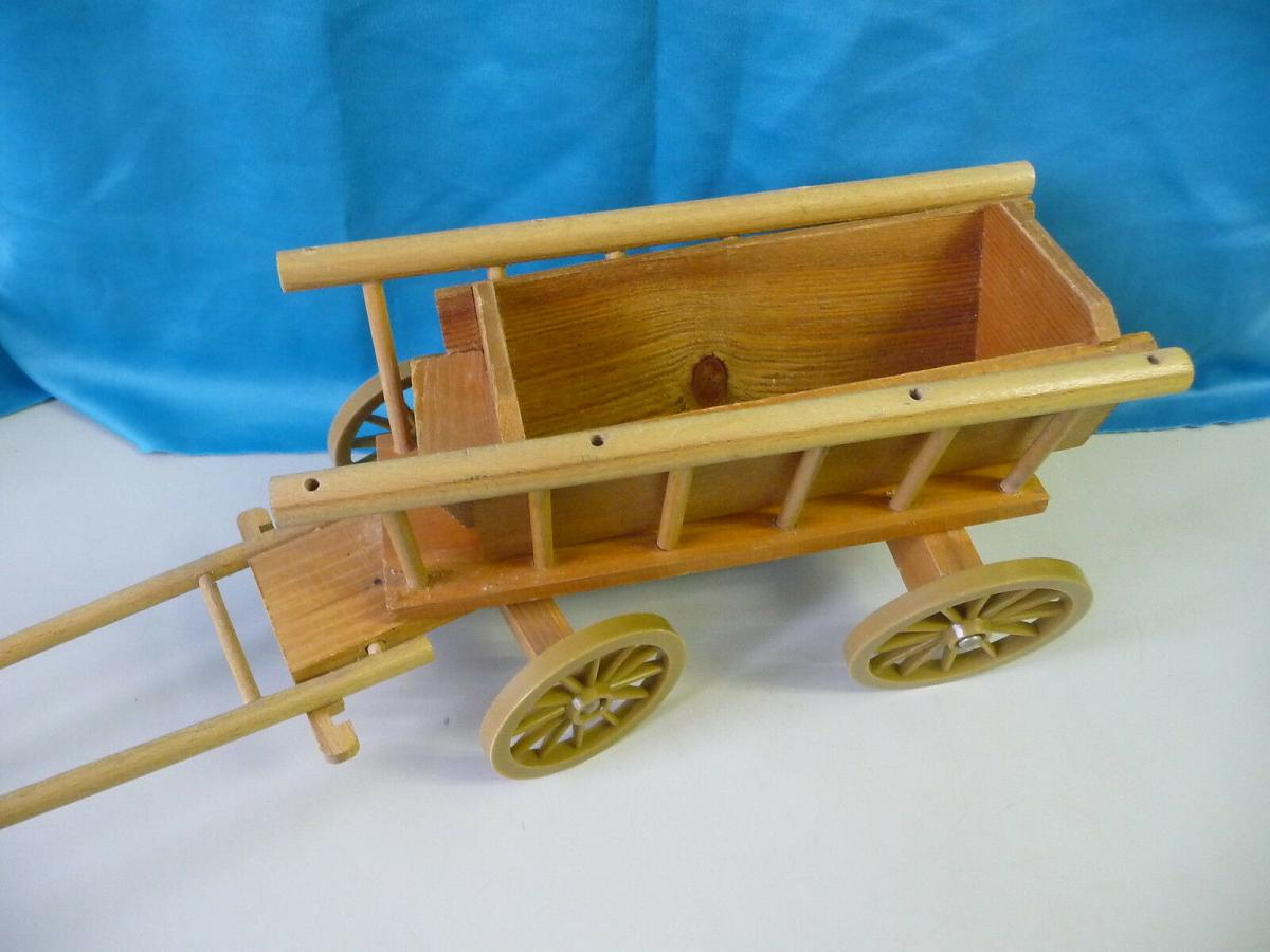 Spielzeug-Leiterwagen Bollerwagen Holzspielzeug / VEB Anker Mechanik Eisfeld 1