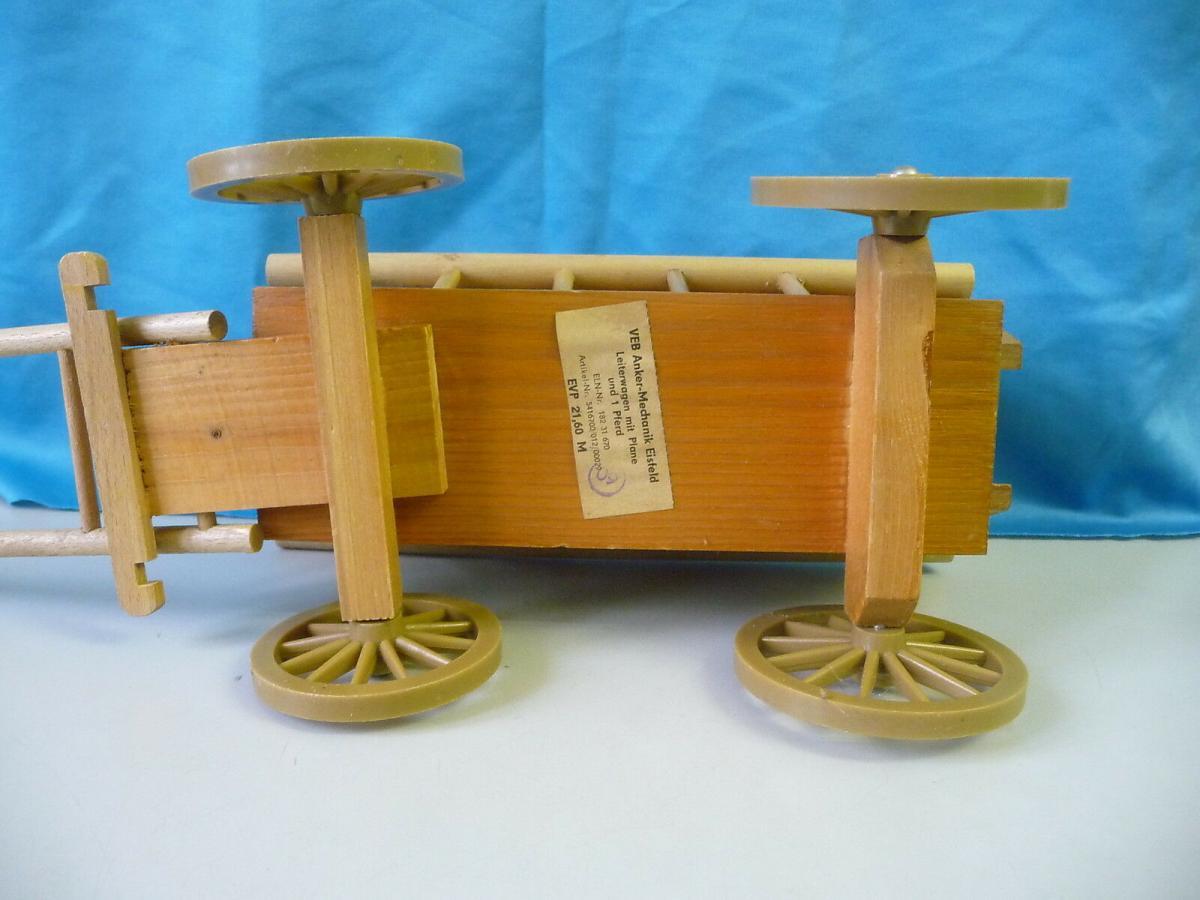Spielzeug-Leiterwagen Bollerwagen Holzspielzeug / VEB Anker Mechanik Eisfeld 2