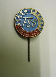 Abzeichen Anstecknadel DDR Fußballverein FSG Großenhain