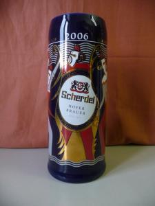 Bierkrug Jahreskrug Brauerei Scherdel Hof Saale 2006