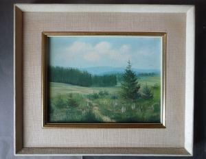 Kleines schönes Gemälde Landschaft Vogtland? / Röder?