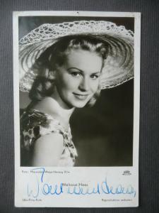 Autogrammkarte Ufa Waltraut Haas / Schauspielerin ca. 1950