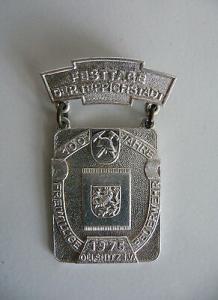 Abzeichen 100 Jahre FF Oelsnitz Vogtland 1975