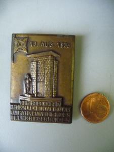 Abzeichen Herborn Einweihung Kriegerdenkmal 1935