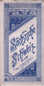 Sächsische Schweiz Album Leporello mit Lithographien ca. 1890