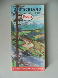 Esso Straßenkarte Deutschland Blatt Süd 1952