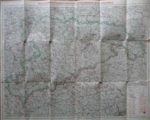 Landkarte Sachsen mit Verwaltungsgliederung ca. 1910