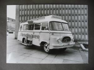 Orig. Pressefoto Fleischverkaufswagen Kleinbus Bus VEB Robur Zittau