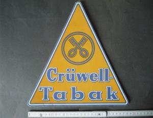 Aufsteller Reklameschild Crüwell-Tabak