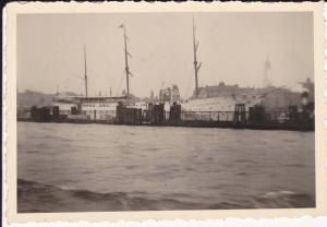 Orig. Foto Hamburg Hafen Hein Godewind Segelschiff ca. 1940