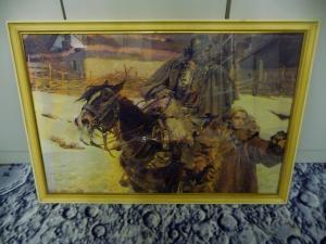 Großer Kunstdruck Wojciech Kossak Kürassier mit Mädchen