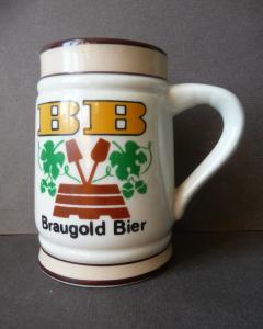 Kleiner Bierkrug Reklamekrug Krüglein BB Braugold Erfurt