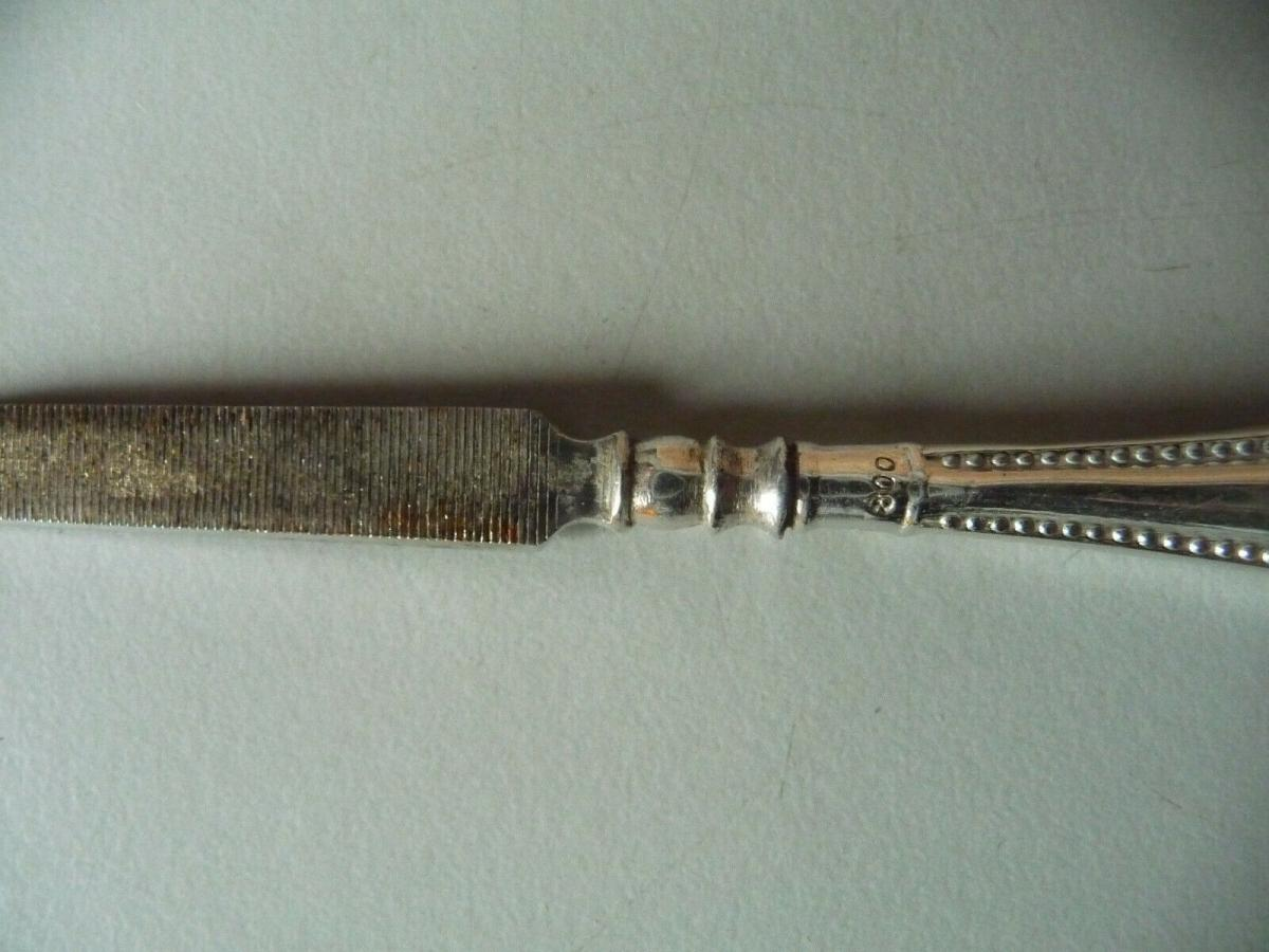 Alte Nagelfeile / Silber 800 1