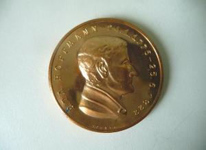 Medaille E.T.A. Hoffmann / Gedenkstätte Weimar DDR 1976 / Helmut König