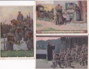 3 x AK Soldatenlieder-Postkarten Nr. 7 11 13 Paul Hey 1918