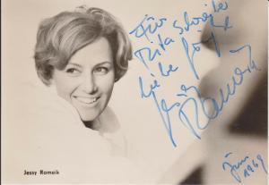 Autogrammkarte Jessy Rameik Schauspielerin DDR Foto signiert 1969